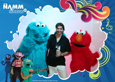 Gabriel at the NAMM Show (Muppets)