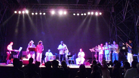 Gabriel with Orquesta Guayacan de Colombia
